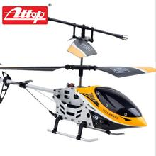 Attop YD-9808 Mini RC Electric Helicopter 3.5CH Gyro Remote Control Plane Kid Toy Crash Resistant indoor funny kid&adult gift #D