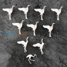 20pcs plastic Birds Small figure Toy Red-crowned Crane Diorama Scenery Layout(China)