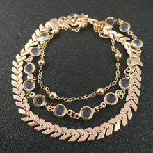 Buy 3pcs / Set New Fashion Crystal Sequins Anklet Women Bracelet Leg Foot Jewelry Vintage Beach Chain Ankle Gift for $1.84 in AliExpress store