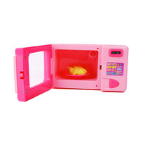 Chanycore Cute dollhouse furniture Toys for girls Microwave Oven Emulational Pink Sounding  Toys Baby Girls Play House Toy Gifts