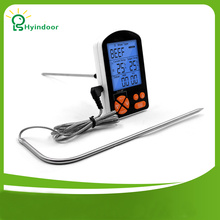 Dual Probe BBQ Thermometer Home Use Stainless Steel Probe Cooking Food Meat Thermometer with Timer(China)