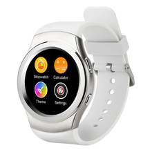 KKTICK G3 Bluetooth Smart Watch MTK2502c IPS screen SIM card Hear Rate Monitor Clock for Apple Iphone IOS & Android silver(China)