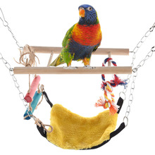 2017 New Pet toy Colorful Swings Pet Birds Budgie Toy Parrot Climbing Toys Bird Toy Accessories for Decorations