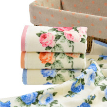 2016 Quality 34*75cm 3Colors Home Hotel Soft Cotton Face Flower Towel Bamboo Fiber Quick Dry Bathroom Towels Facecloth