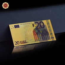 World Paper Money Collection 20 Euro Fake Banknotes , Gold banknote Color Make Money Selling(China)