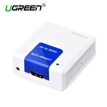 Ugreen HDMI to AV RCA Composite Converter Connector 1080P HDMI RCA Adapter Audio video AV Converter For TV PC PS3 VCR DVD PAL(China)