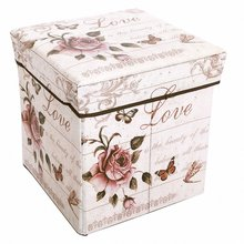 new Foldable stool leather box can sit storage bins for underwear bra books kid toys organizer Shoes stool shoe Taburete(China)