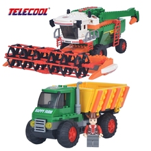 TELECOOL Happy Farm Harvester Model Building Block Set 656 Pcs 3D Construction Brick Educational Hobbies Toy For Kids