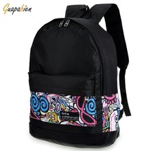 Vintage Canvas Backpack For Women 5 Designs Girls Boy School Bags Fashion Travel Rucksack Print College Teenage Book Bagpacks