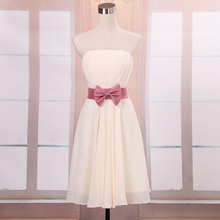 real picture short semi formal a line summer cheap homecoming dresses  girls dress with chiffon overlay for women under 50 W1950