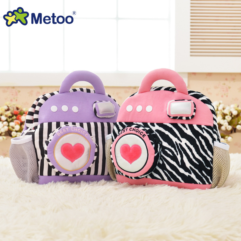 Camera Backpack Kids Doll Plush Backpack Toy Children Shoulder Bag for Kindergarten Girl Metoo Backpack<br><br>Aliexpress