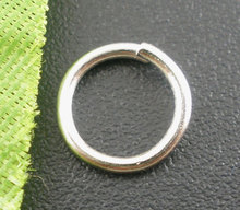 8SEASONS 500PCs Silver Tone Color Open Jump Rings 8mm Dia. Findings (B03066)(China)