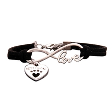 New Antique Cute Pets Dog's Paw Heart Charm Infinity Love Bracelets Unique Dogs Store Best Friend Gifts For Women Men(China)
