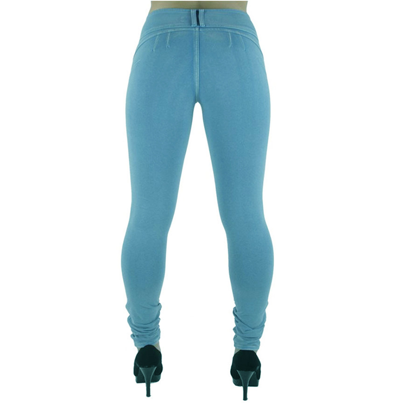 Sexy Push Up Leggings, Women's Denim Leggings, Casual Elastic Jeggings 6
