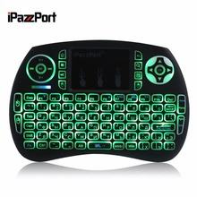 IPAZZPORT English Russian Wireless Mini Keyboard Portable Touchpad Handheld Backlit Mouse for Android TV box for Google TV box