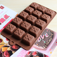 15 Cavity Square Cubic Gift Box Shape Silicone Mold Chocolate Mould Cookie Mold Cake Decorating Fondant Mold Baking Tool D0307