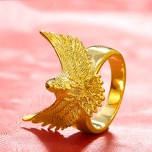 1pcs Vintage Exaggerated Gold Color Big Bird Rings Men Geeks Festival Gift(China)