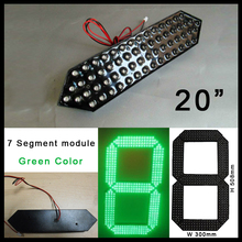 LED number green color  outdoor 20inch 7segments 12V 27W 300X508mm led gas price of  digit module