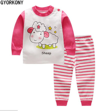 2018 Kids Thermal Underwear Solid Thick Cotton Children's Warm Suit Clothes Baby Boys Girls Long Johns Pajamas Sets A-BN1015-3P(China)