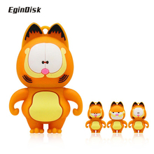 Brand new high quality cartoon, Garfield USB flash driver, 4G 8G 16G 32G 64G pen driver, exquisite gift memory stick, U disk(China)