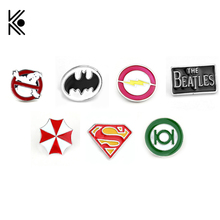 17 Types Deadpool Ghostbusters Batman Brooches Pins Flash Captain America Superman brooches for men badge Hat Tie Tack Brooch