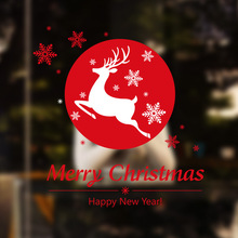 Foreign Trade Explosion Models Christmas Shop Window Display Christmas Snowflake Fawn Decorative Wall Stickers
