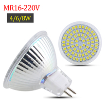 MR16 LED Spot Light 36LEDs 54Leds 72Leds AC 220V Led Bulb Lamp Glass Body Bombillas Led Full 8W 6W 4W Home Decorative Lamp 1PCS