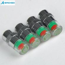 1 Set 4pcs Car Tyre Tire Pressure Monitor Indicator Valve Stem Cap Sensor 3 Color Eye Alert