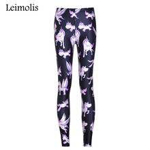 Buy Leimolis High Waist punk rock Harajuku workout push fitness sexy 3d print purple unicorn women leggings plus size for $8.37 in AliExpress store