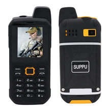 SUPPU IP67 waterproof UHF Walkie-Talkie bluetooth 3.0 flashlight power bank FM mp3 dustproof rugged mobile phone P284