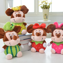 "1Pcs/lot 8"" 20cm Lovely Plush Cartoon Fruit Mickey Mouse Toy For Baby  Mickey  Minnie Mouse Doll  Free Shipping Hot Sales"