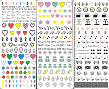3 sheet 3 type Phototherapy Lovely Water Nail Seal Designs 3D Nail Art Stickers Decals Makeup DIY Water Tattoos Manicure Tool(China)