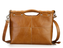 Classic Women Handbags Genuine Leather Satchels Crossbody Bags Ladies Solid Shoulder Bags Casual Large Capacity  School Bags