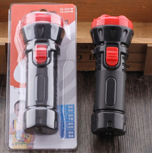 Portable mini flashlight LED rechargeable flashlight plastic household lighting torch of large capacity long life