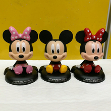 Automobile Cute Mickey Minnie Shake Head Dolls Car Furnishing Articles Ornaments Auto Inside Crafts Decoration Car Toy Styling