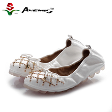 Anvenus Women Fashion Super Soft Comfort Elastic Welt Ballet Flats Lady Girl Student Cute Bow Checks Rhinestones Casual Shoes(China)