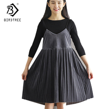 Korean style Spaghetti Strap Dress Sexy V-neck Above-Knee Cordaroy Dresses Woman 2017 Winter Pleated Dresses Hot Sales D7D349C(China)