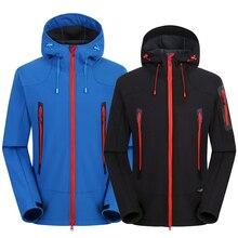 Outdoor Hiking Jacket Softshell Jacket Men Windproof Waterproof Soft Shell Fleece Jackets Camping Clothing Sport Warm Coat