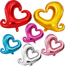 18inch Happy Wedding Balloons Party Love Heart Marriage Foil Balloon Bride Wedding Balloon Kids Celebration Party Decorate(China)