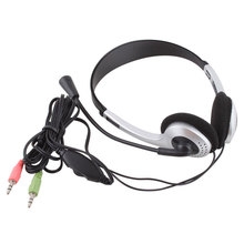 Cheap Wired Gaming Earphone Headphone With Microphone 3.5mm Plug MIC VOIP Headset Skype for PC Computer Laptop #21228(China)