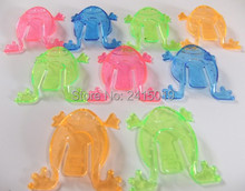 Free shipping 144pcs Jumping frog plastic funny toy for children novelty items for child party favors for fun Pinata fillers.