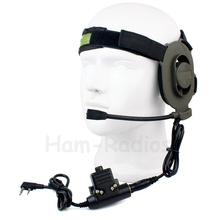 New HD01 Z Tactical Bowman Elite II Headset with U94 Style PTT for Kenwood Radios 2 Pin