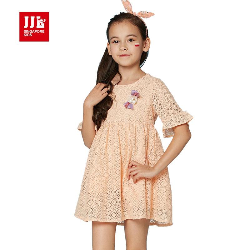 girls dress 2017 brand princess dress for girls clothes kids dressess children clothing lotus leaf sleeve lace dress girls<br><br>Aliexpress