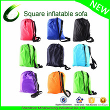 Portable camping outdoor sleeping bag OEM inflatable lounge bag chill lazy bag