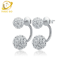 shamballa earrings fashion jewelry aros brinco studs earrings for women oorbellen boucle d'oreille crystal stud earing
