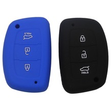 3Buttons Silicone Key Cover For Hyundai IX25 I30 HB20 i30 ix35 Mistra Verna Solaris Sonata Santafe IX45 Smart Fob Case With Logo