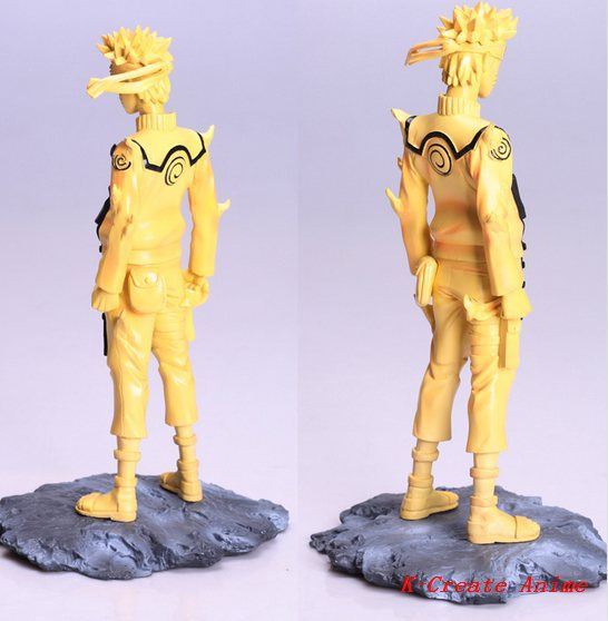 Free shipping 1pcs Anime Naruto gold naruto pvc figure toy tall 23cm.1pcs newest gold naruto pvc doll for collecton.<br>