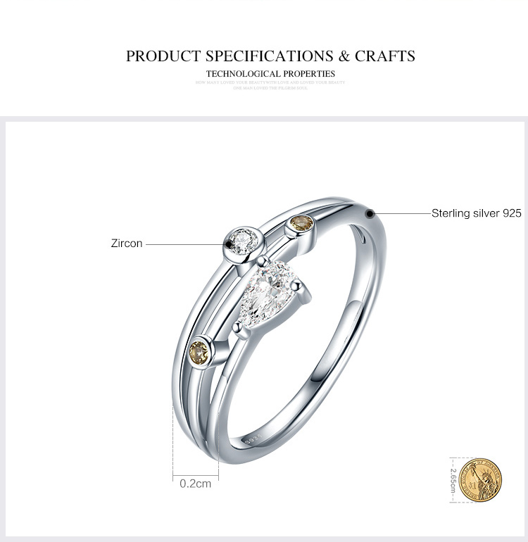 925 Sterling Silver Cubic Zirconia Stone Skull Ring