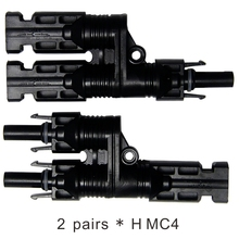 MAYLAR@ 2 Pairs H Type MC4 Style Branch Connectors With CE,Be Used Solar Generator System