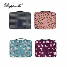 Women Makeup bag Cosmetic bag Case Make Up Organizer Toiletry Storage Neceser Rushed Floral Nylon Zipper Travel Cosmetic bag(China)